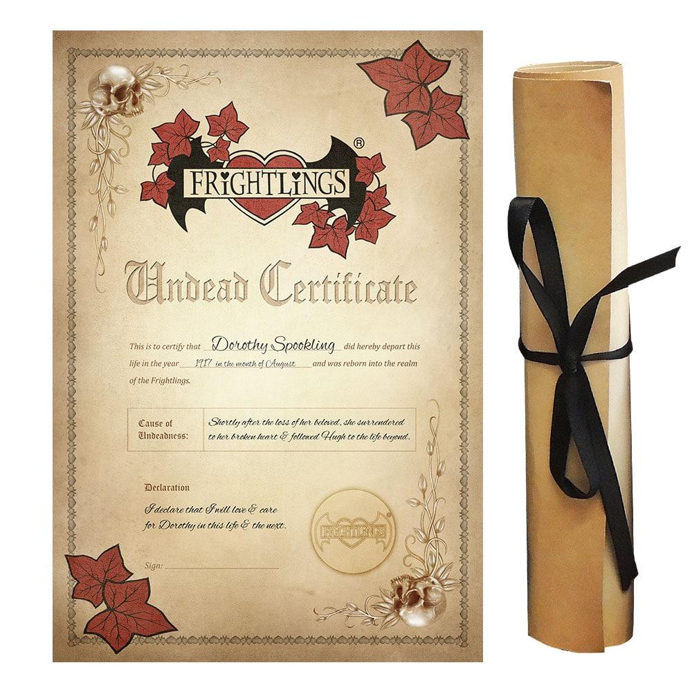 dorothy-spookling-undead-certificate-scroll