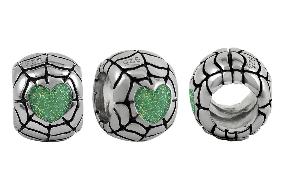 heart-web-bead-iridescent-sparkly-green